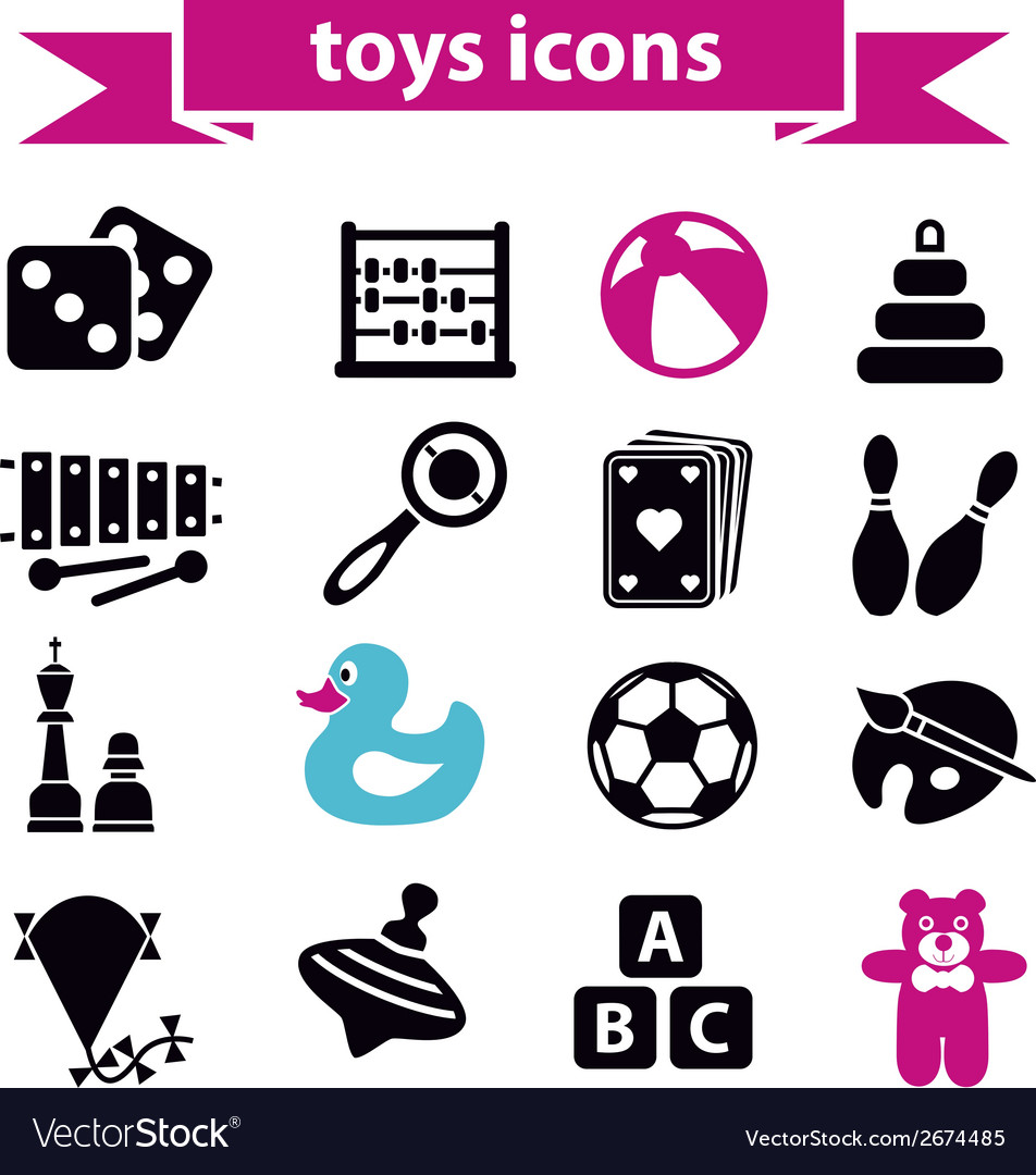 Toys icons vector | Price: 1 Credit (USD $1)