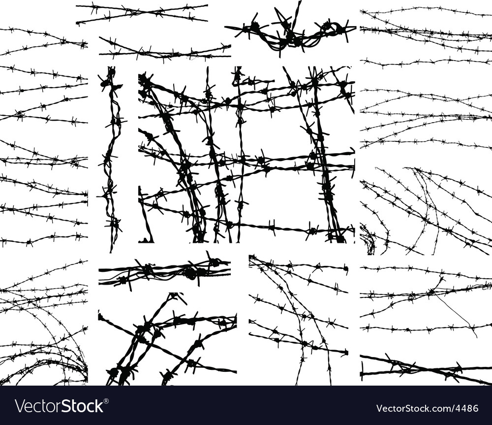 Barbed wire elements vector | Price: 1 Credit (USD $1)