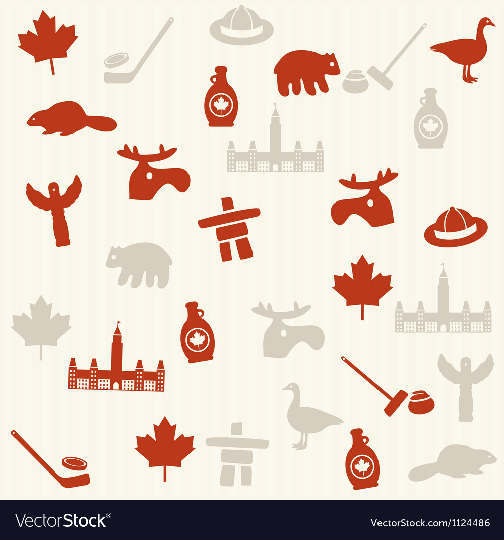 Canadian seamless pattern vector | Price: 1 Credit (USD $1)
