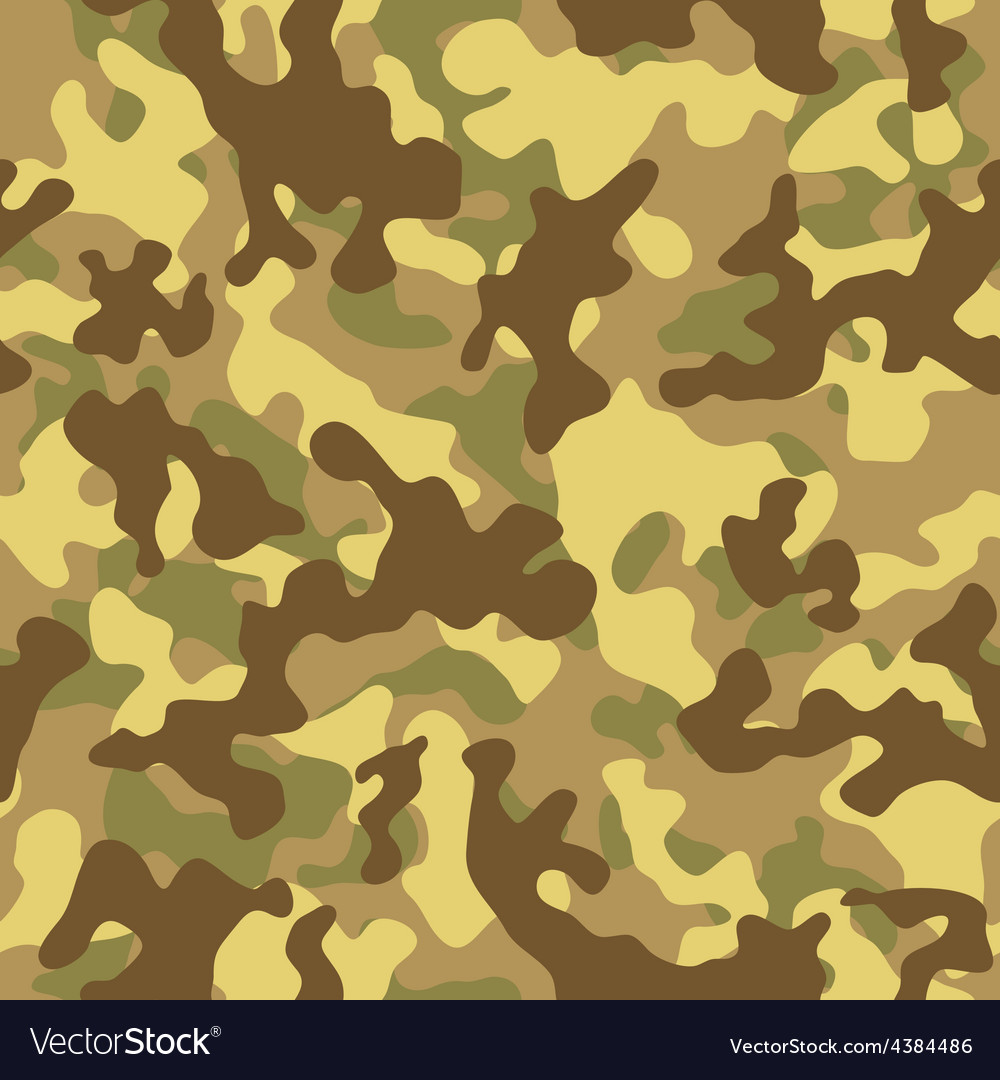 Desert camouflage seamless pattern vector | Price: 1 Credit (USD $1)