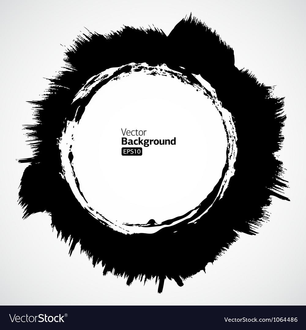 Grunge circle frames set vector | Price: 1 Credit (USD $1)