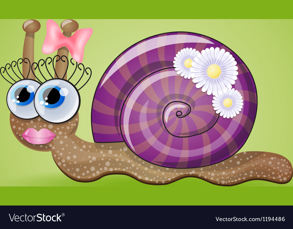 Isolated funny female snail vector | Price: 3 Credit (USD $3)