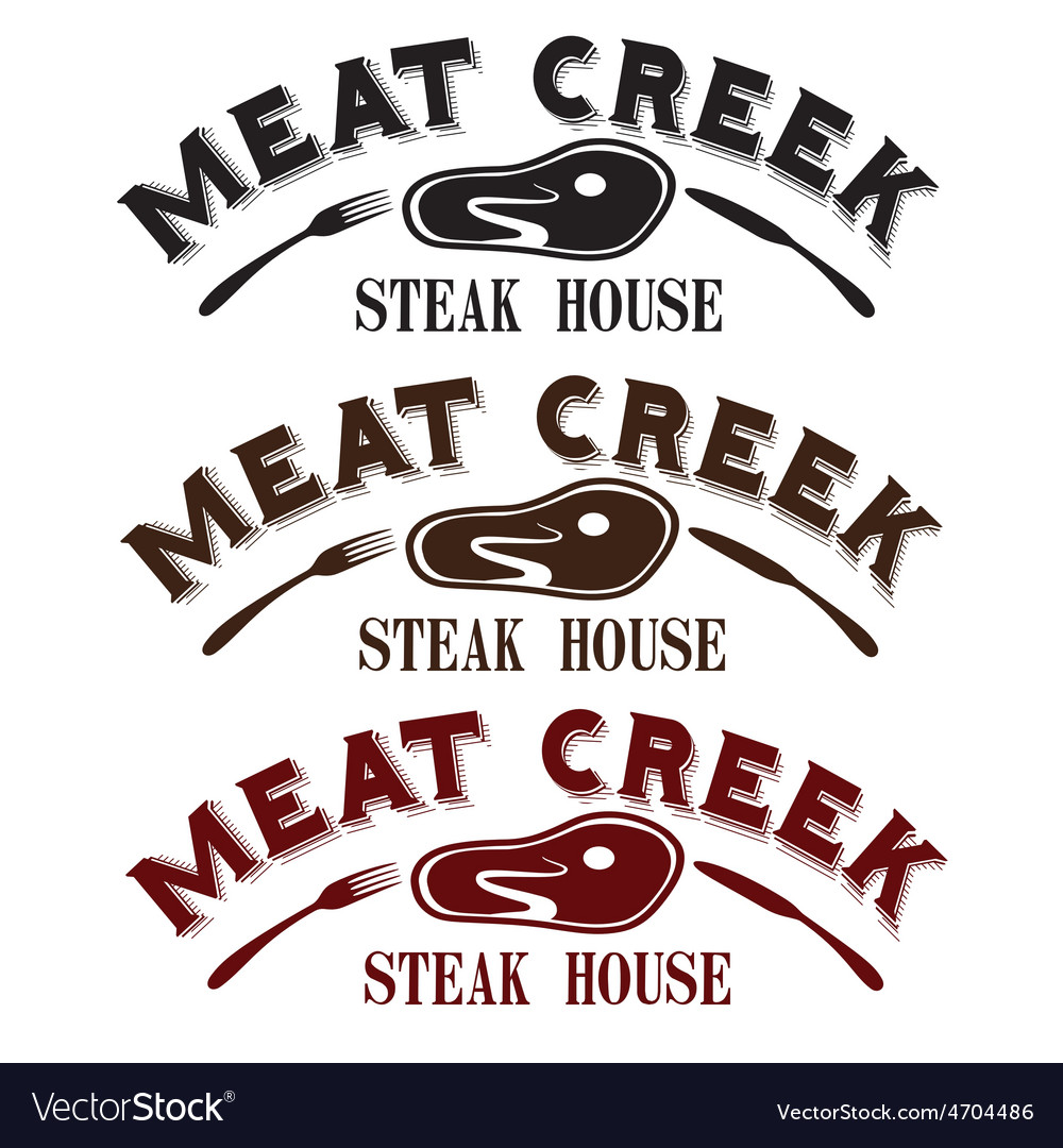 Meat creek steak house vector | Price: 1 Credit (USD $1)
