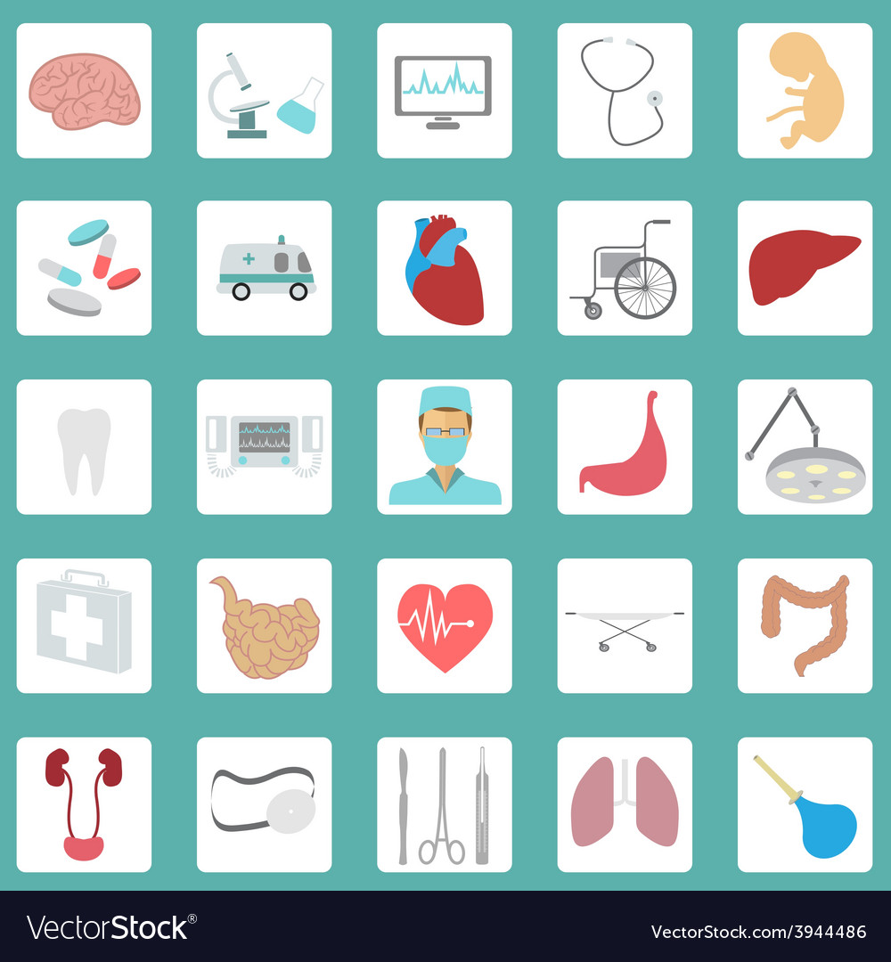 Medical and healthcare icon set vector | Price: 1 Credit (USD $1)