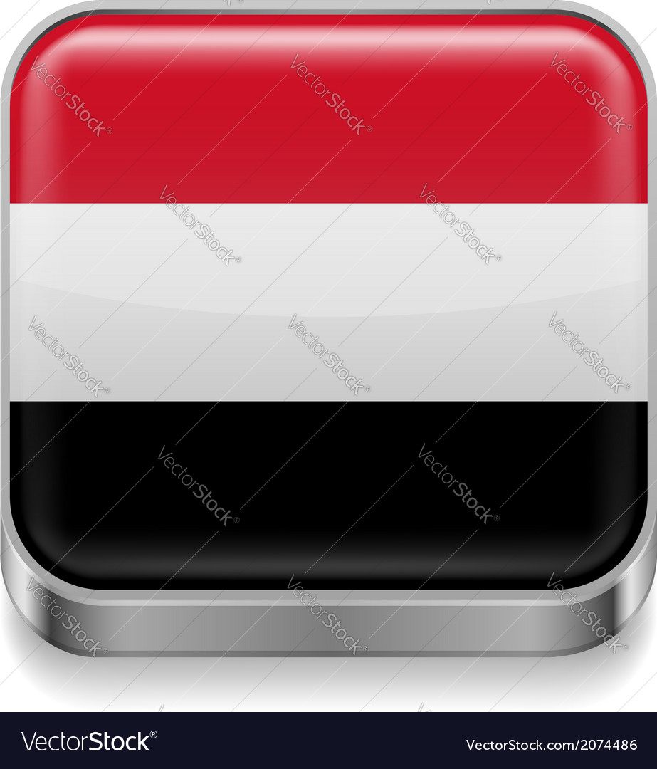 Metal icon of yemen vector | Price: 1 Credit (USD $1)