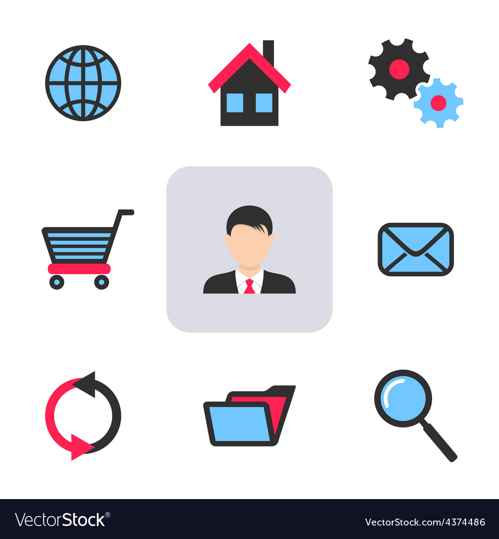 Office and web icons vector | Price: 1 Credit (USD $1)