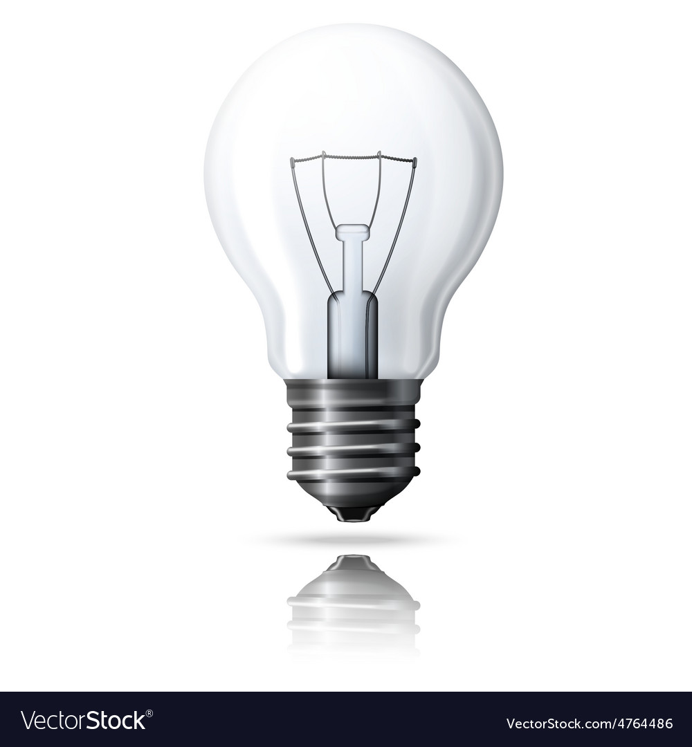 Realistic light bulb isolated on white vector | Price: 3 Credit (USD $3)