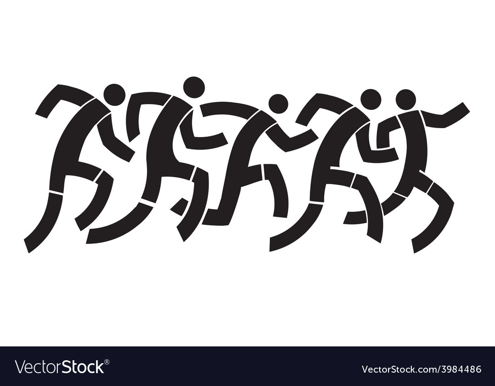 Runners abstract symbol vector   Price: 1 Credit (USD $1)