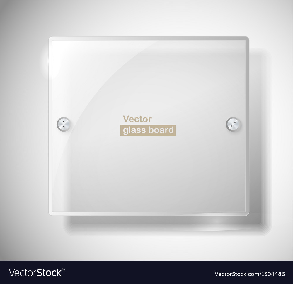 Square advertising glass board vector | Price: 1 Credit (USD $1)