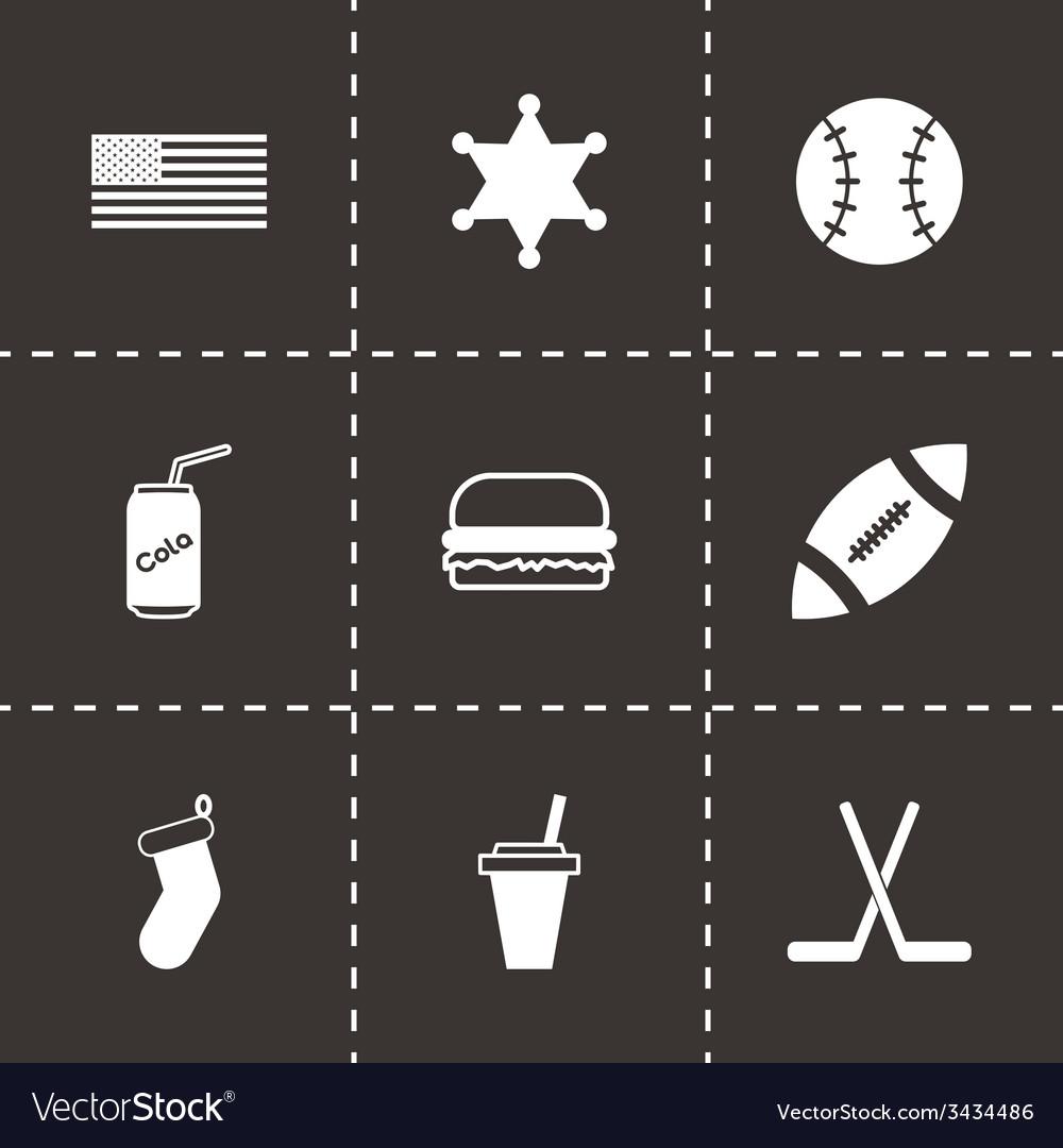 Usa icon set vector | Price: 1 Credit (USD $1)