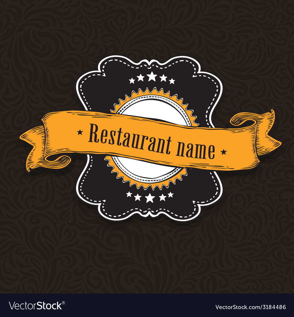 Vintage menu card vector | Price: 1 Credit (USD $1)