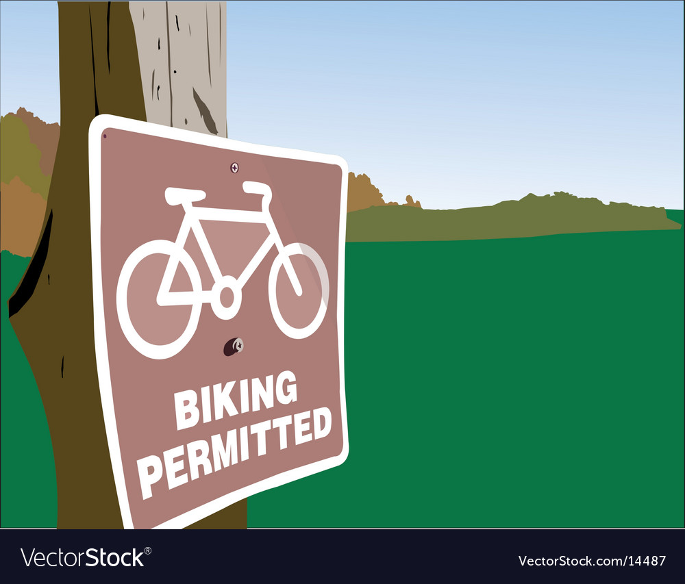 Biking permitted vector | Price: 1 Credit (USD $1)