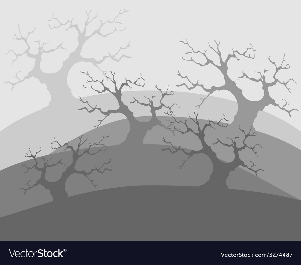 Dead trees poor environment the apocalypse vector | Price: 1 Credit (USD $1)