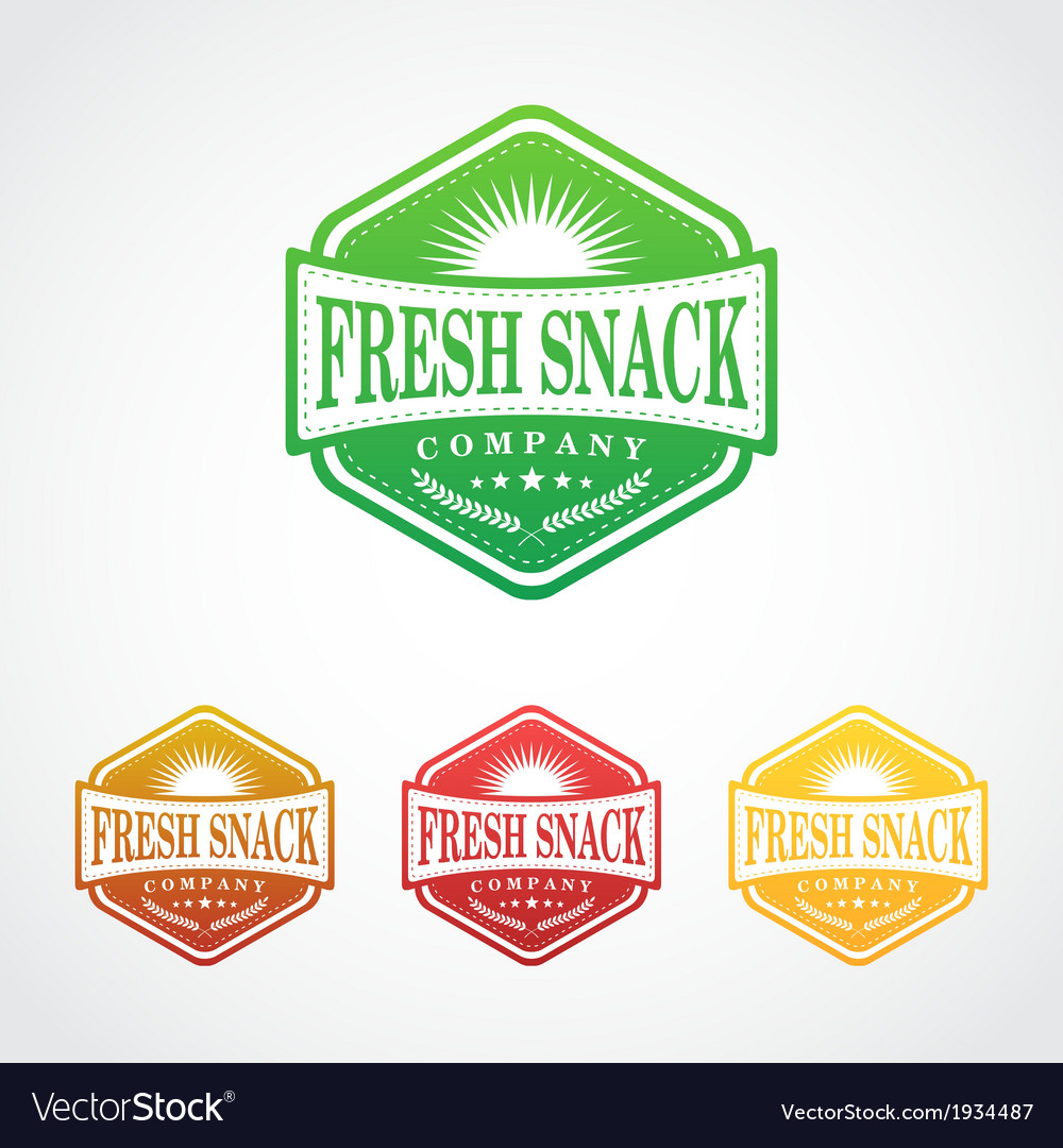 Fresh snack badge symbol vector | Price: 1 Credit (USD $1)