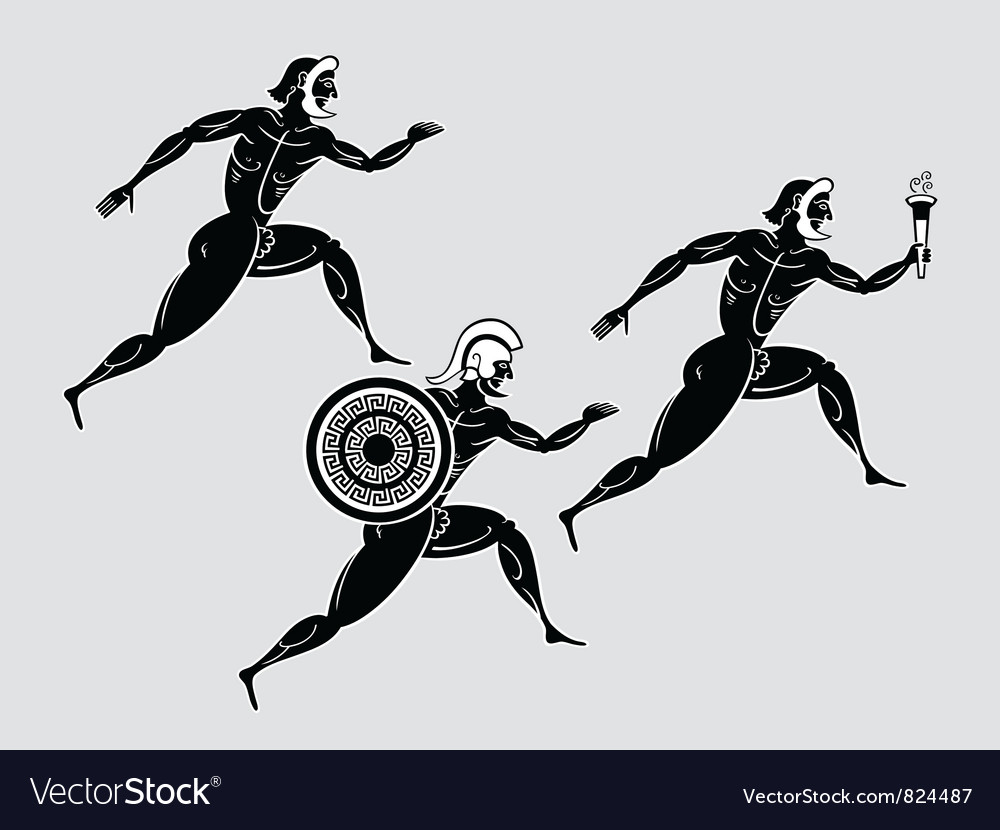 Greek runners vector | Price: 1 Credit (USD $1)