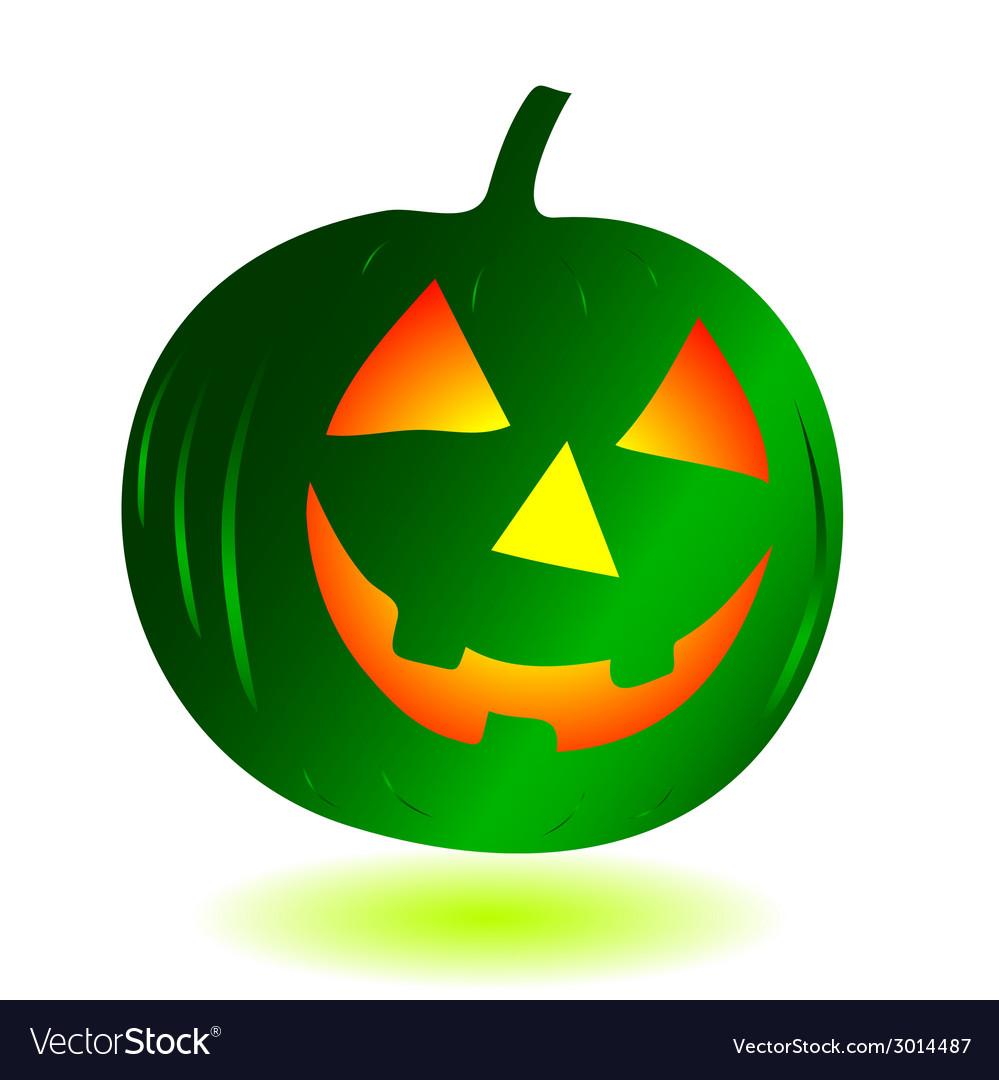 Green pumpkin vector | Price: 1 Credit (USD $1)