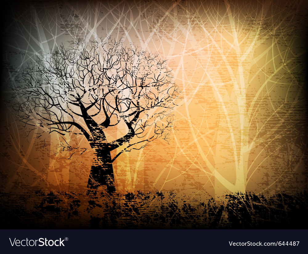 Grungy forest vector | Price: 1 Credit (USD $1)