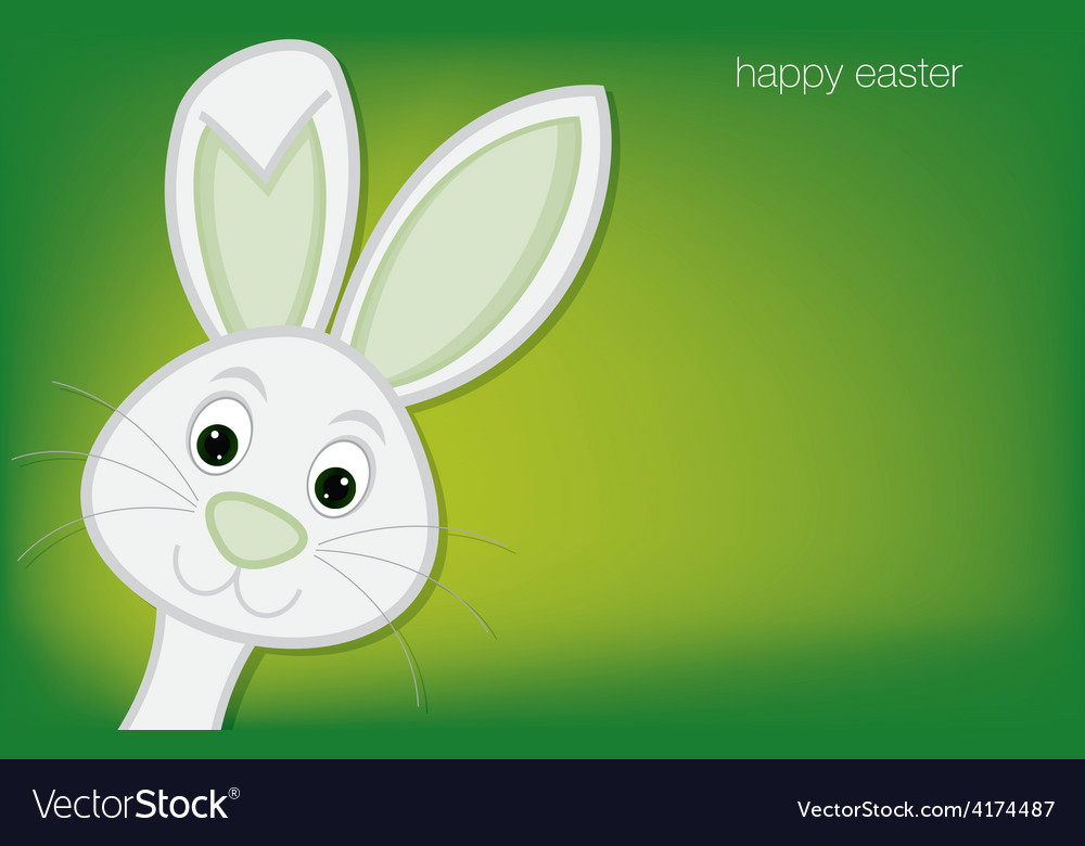 Hiding easter bunny card in format vector   Price: 1 Credit (USD $1)
