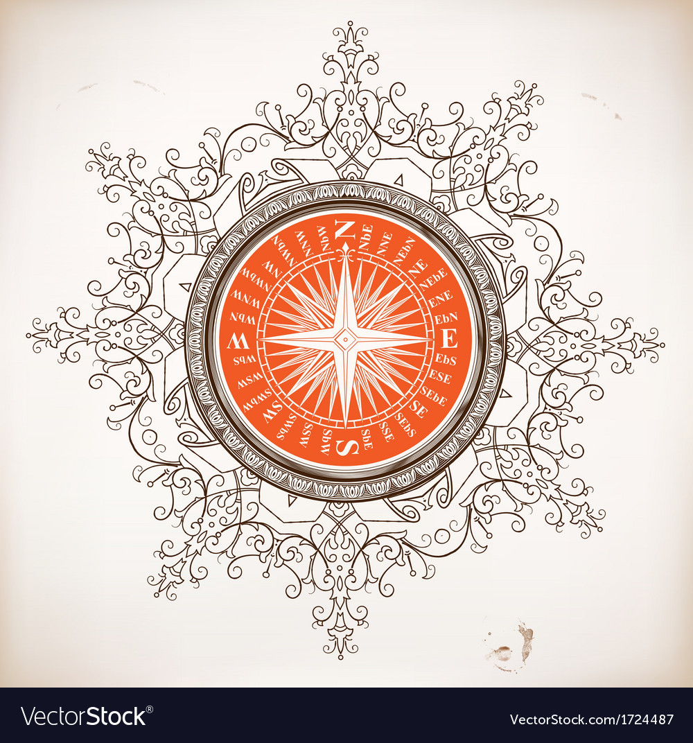Nautical design baroque ornaments vector | Price: 1 Credit (USD $1)