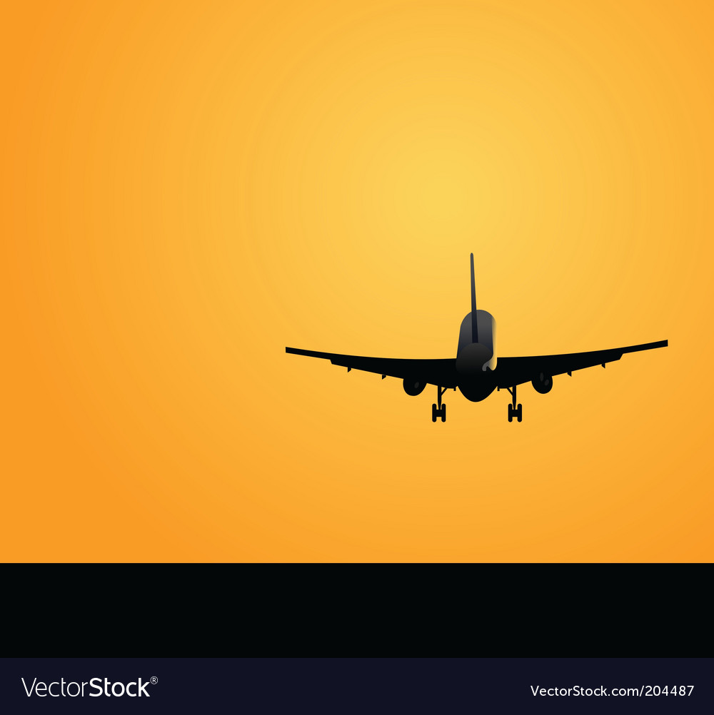 Plane silhouette vector | Price: 1 Credit (USD $1)