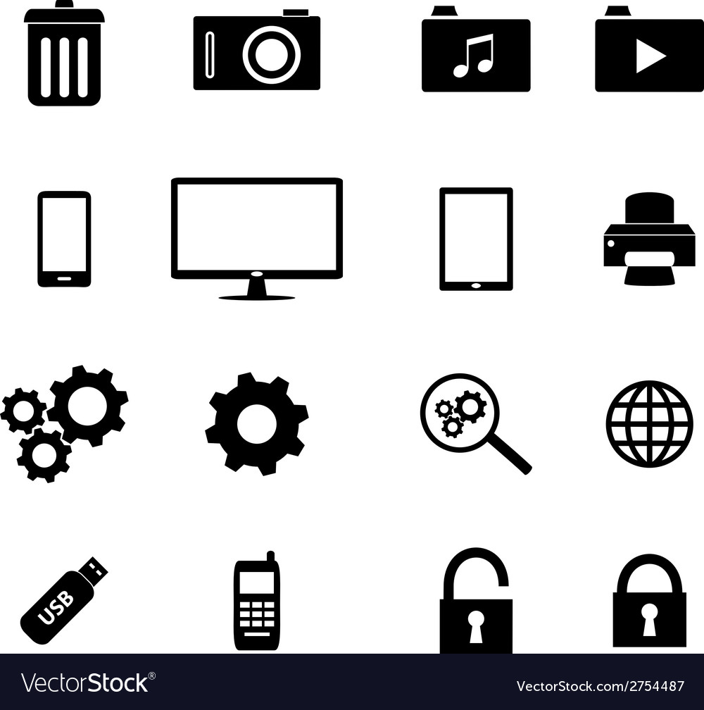 Set of flat icons - business and technology vector | Price: 1 Credit (USD $1)