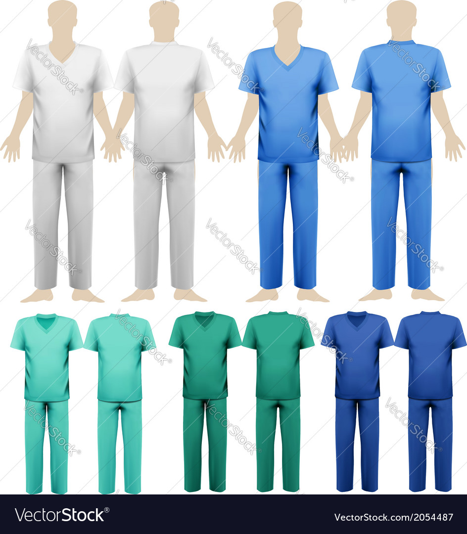 Set of medical overalls design template vector | Price: 1 Credit (USD $1)