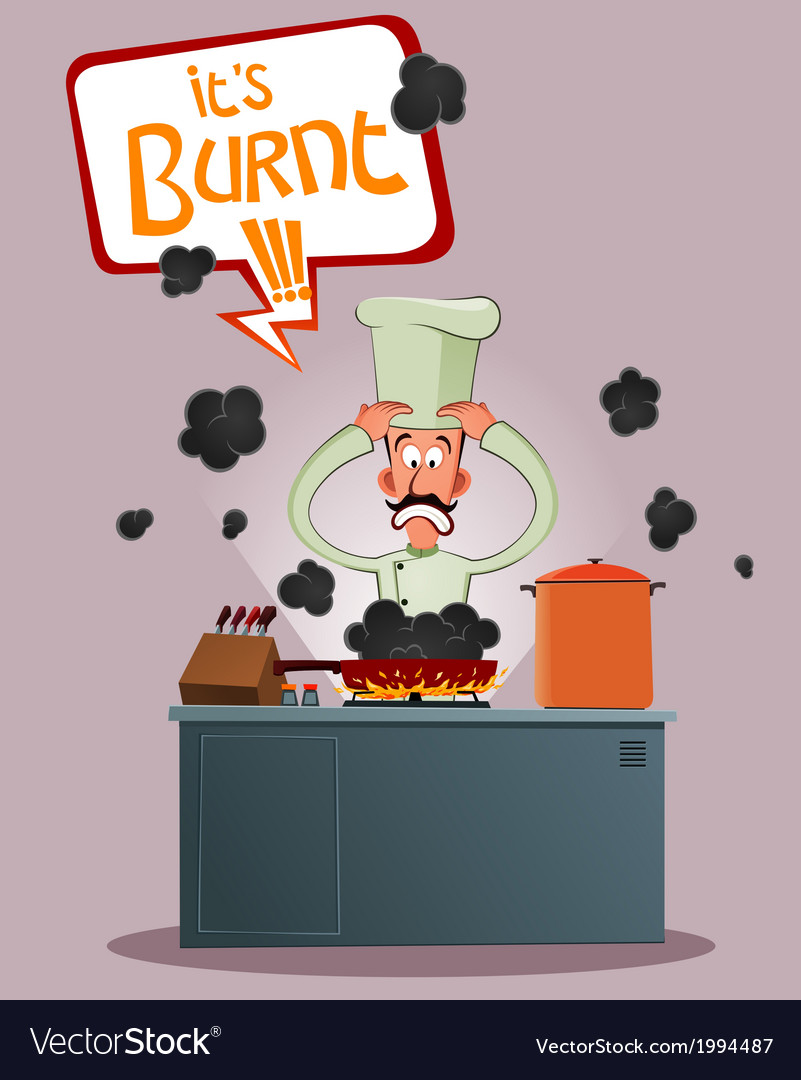 Stressed chef vector | Price: 1 Credit (USD $1)