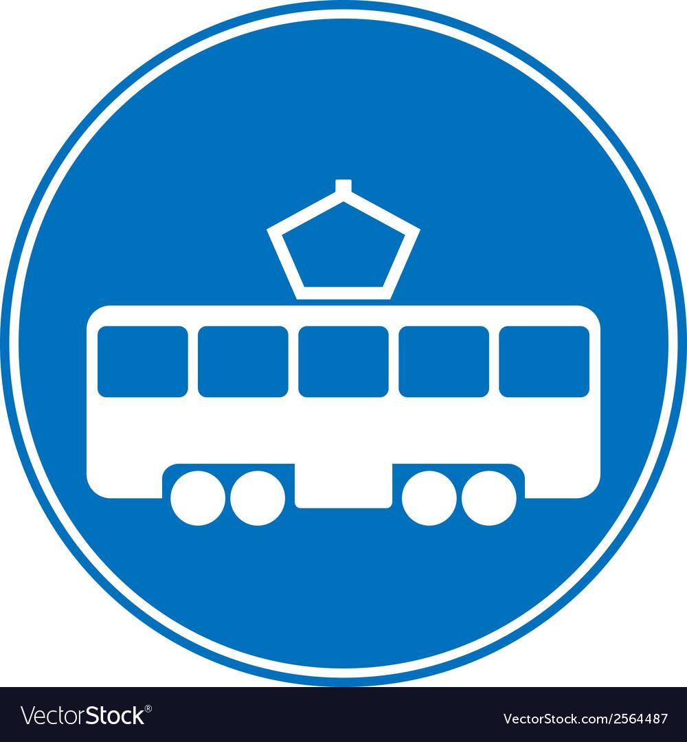 Tram vector | Price: 1 Credit (USD $1)
