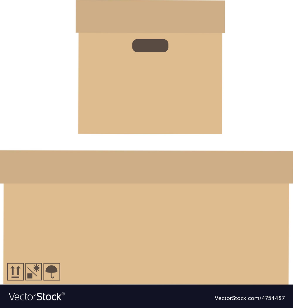 Two boxes vector | Price: 1 Credit (USD $1)