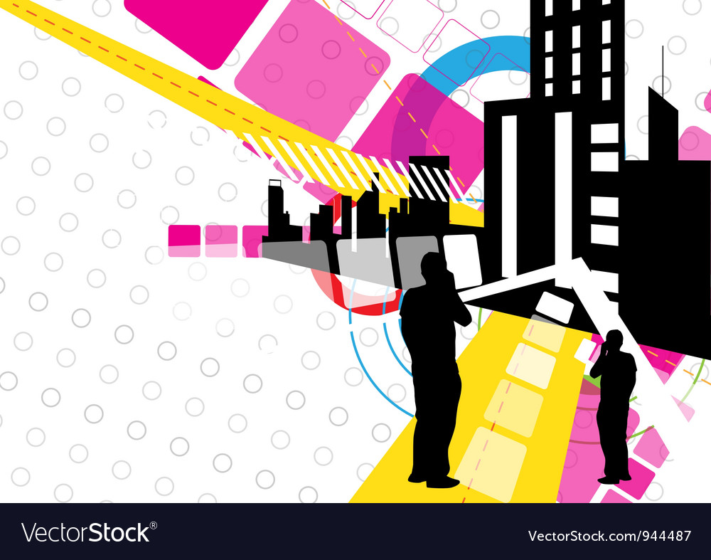 Urban scene design vector | Price: 1 Credit (USD $1)