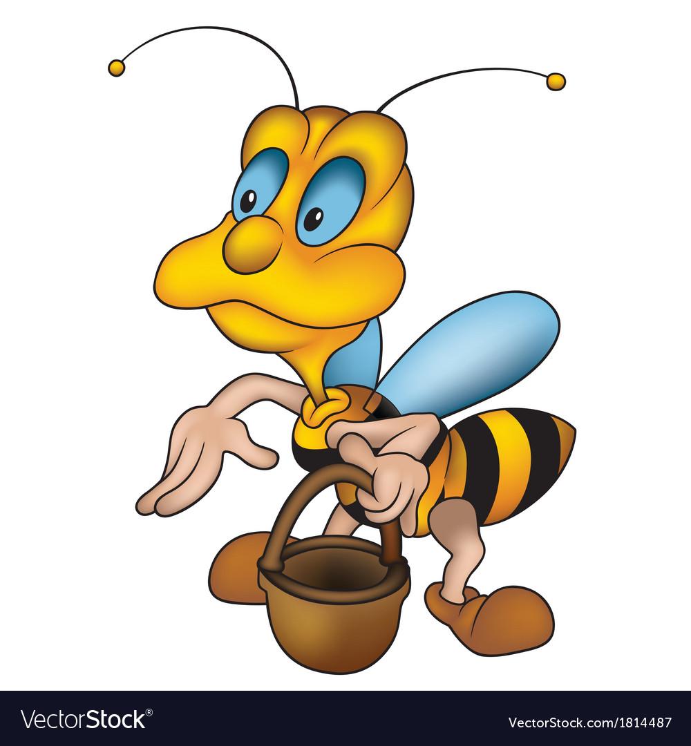 Wasp and handbasket vector | Price: 1 Credit (USD $1)
