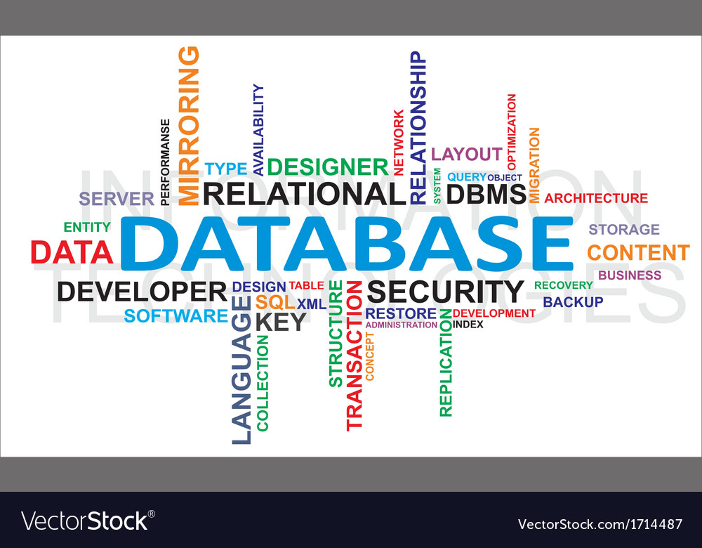 Word cloud database vector | Price: 1 Credit (USD $1)