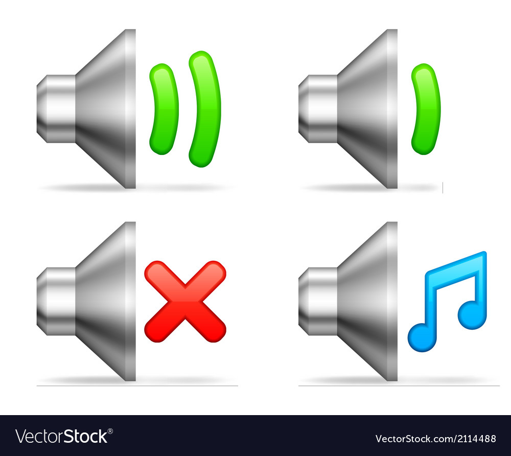Audio volume icons vector | Price: 1 Credit (USD $1)