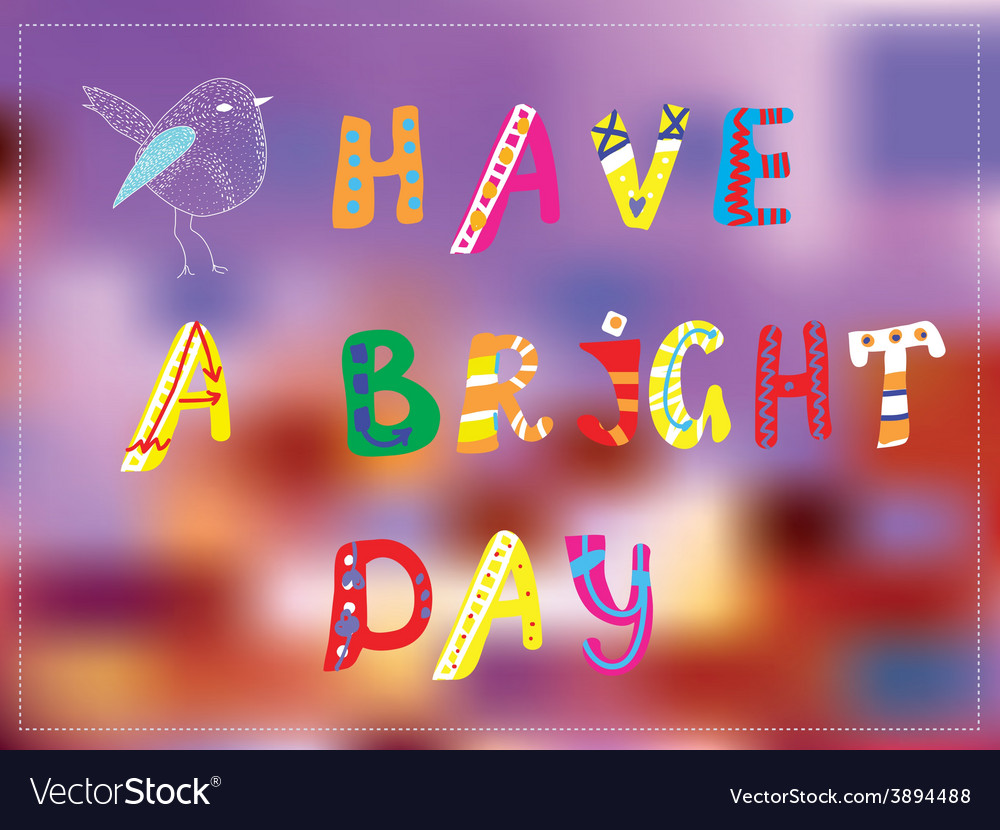 Bright day funny card for good mood vector | Price: 1 Credit (USD $1)