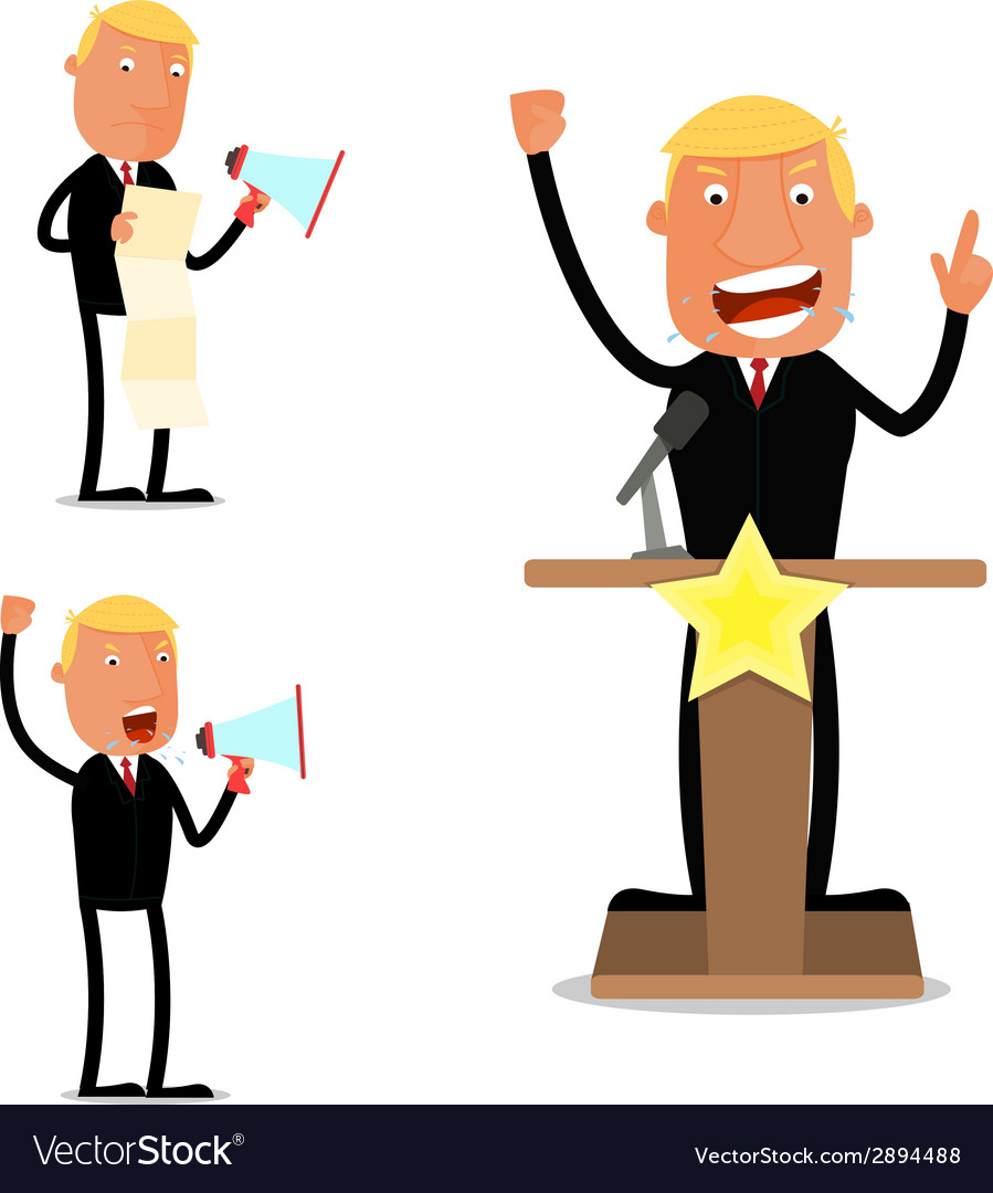 Businessman in speech vector | Price: 1 Credit (USD $1)