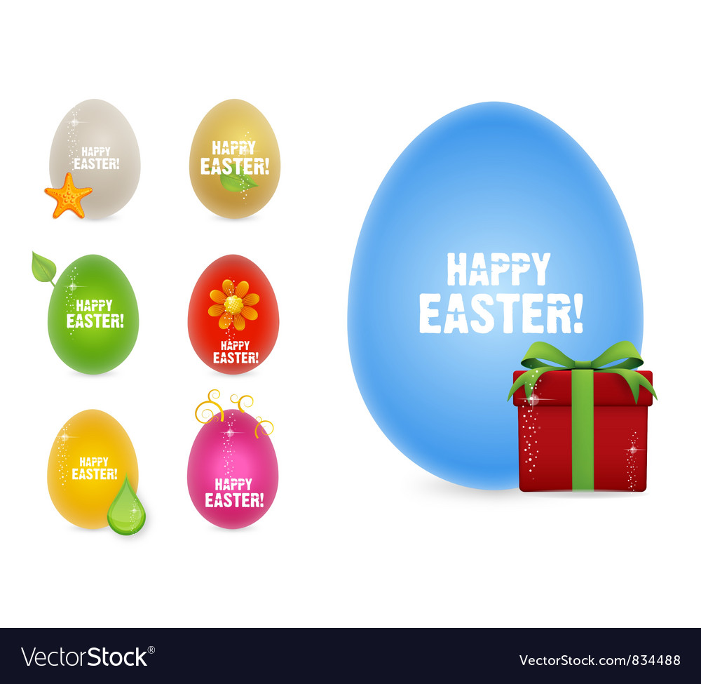 Creative happy easter eggs vector | Price: 1 Credit (USD $1)