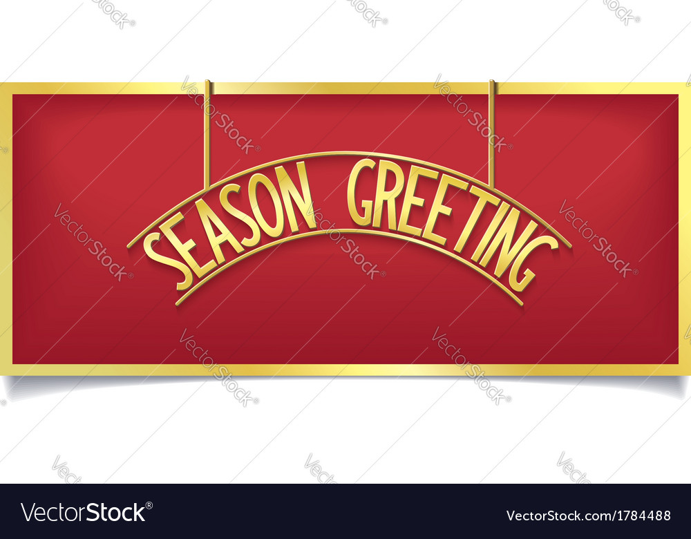 Happy holiday design lettering on gold signboard vector | Price: 1 Credit (USD $1)