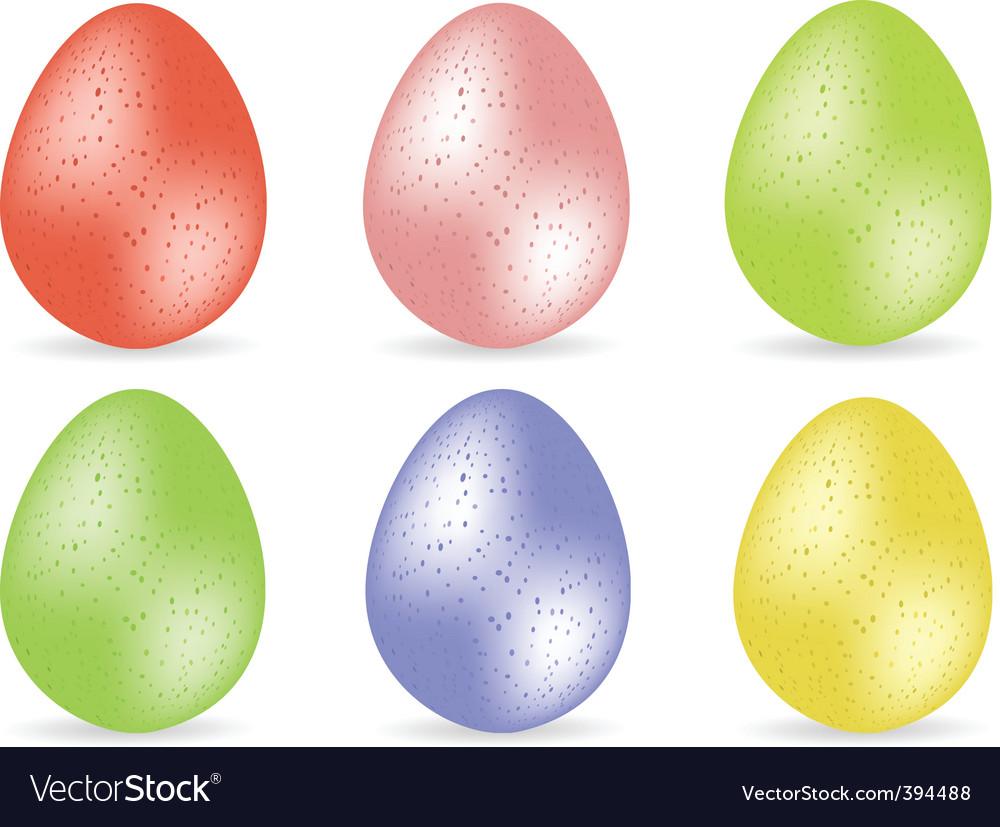 Speckled easter egg set2 vector | Price: 1 Credit (USD $1)