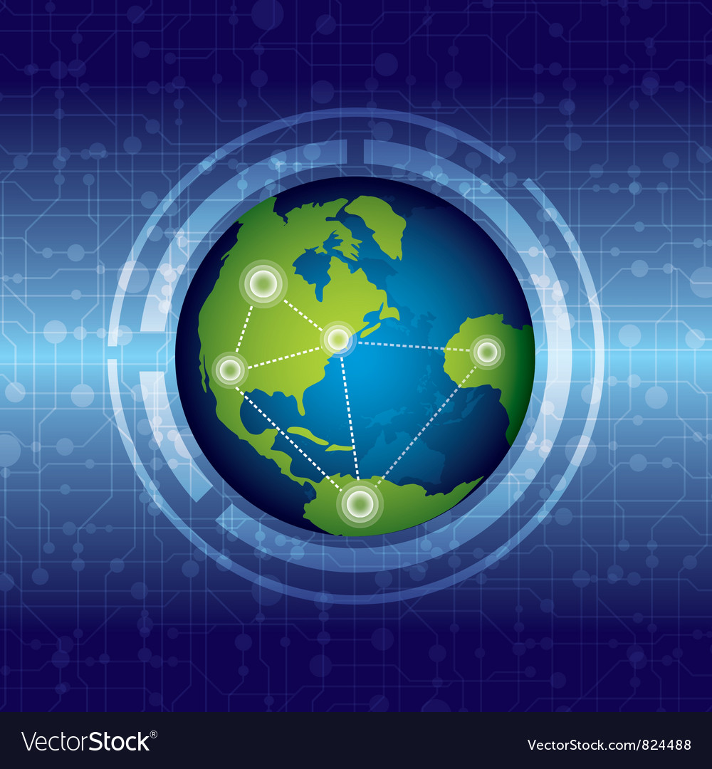 World connection vector | Price: 1 Credit (USD $1)