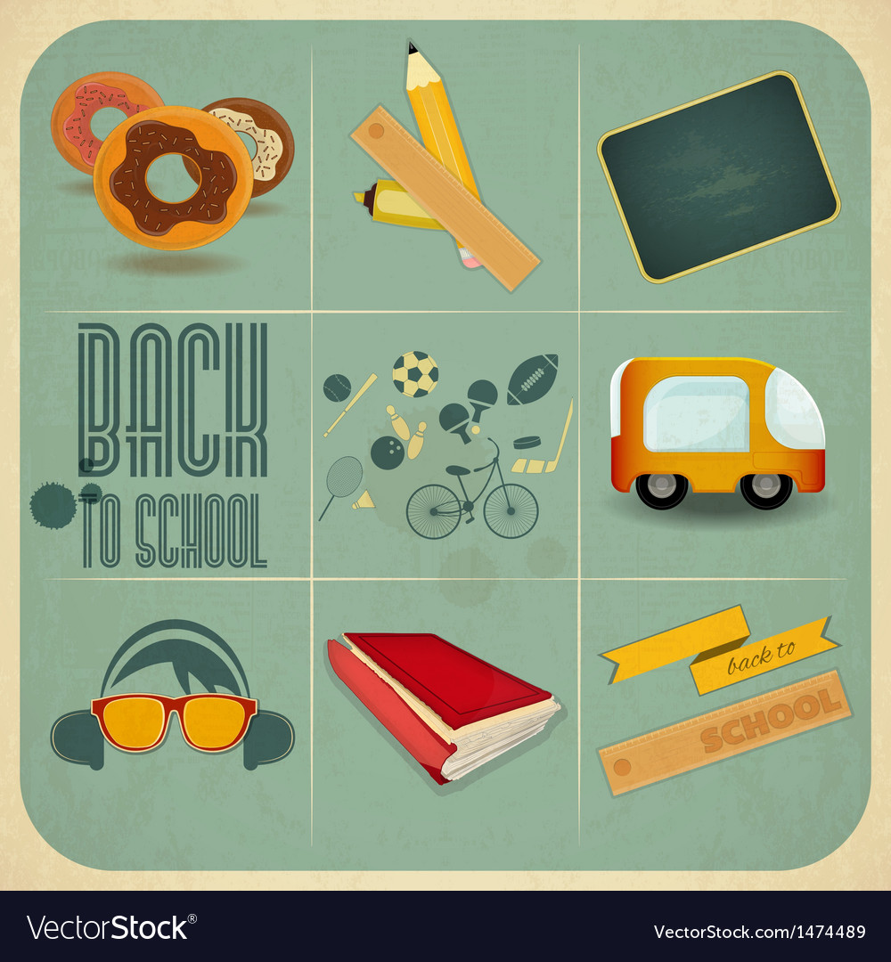 Back to school design vector | Price: 3 Credit (USD $3)