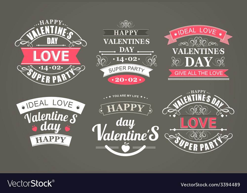 Calligraphic design elements valentines day vector | Price: 1 Credit (USD $1)
