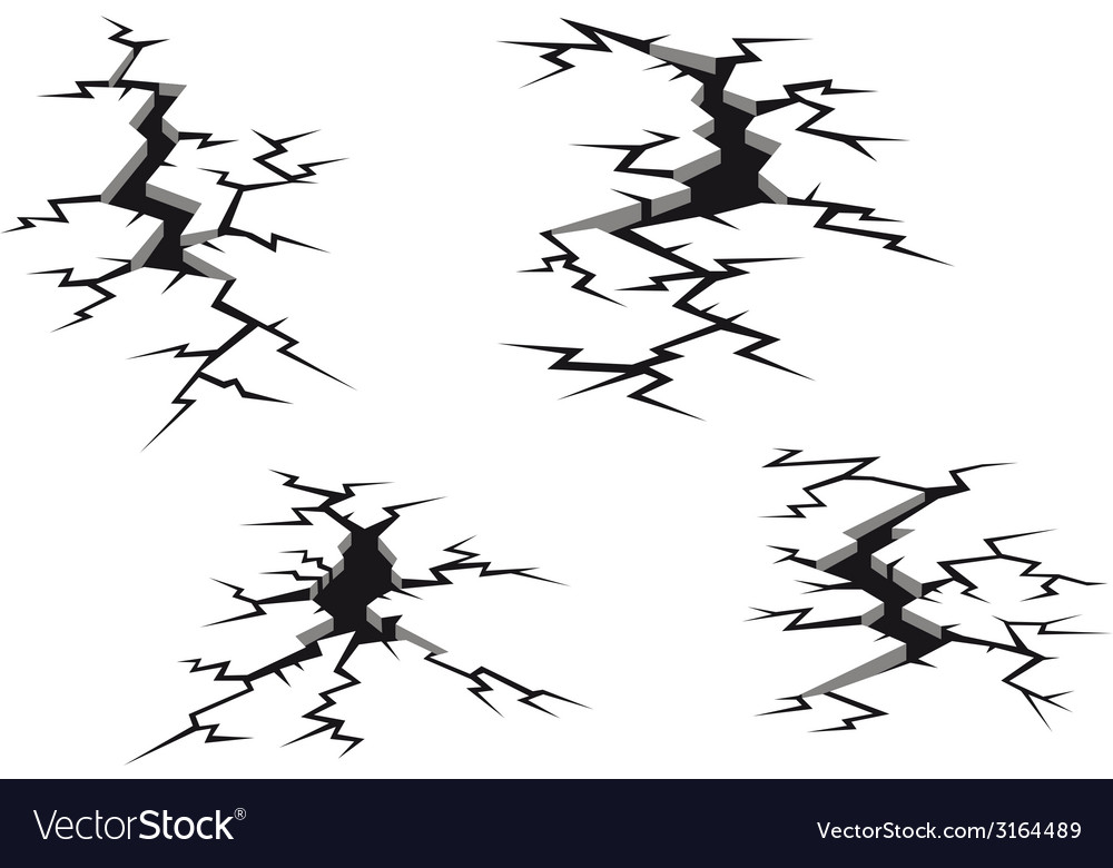 Cracks and clefts vector | Price: 1 Credit (USD $1)