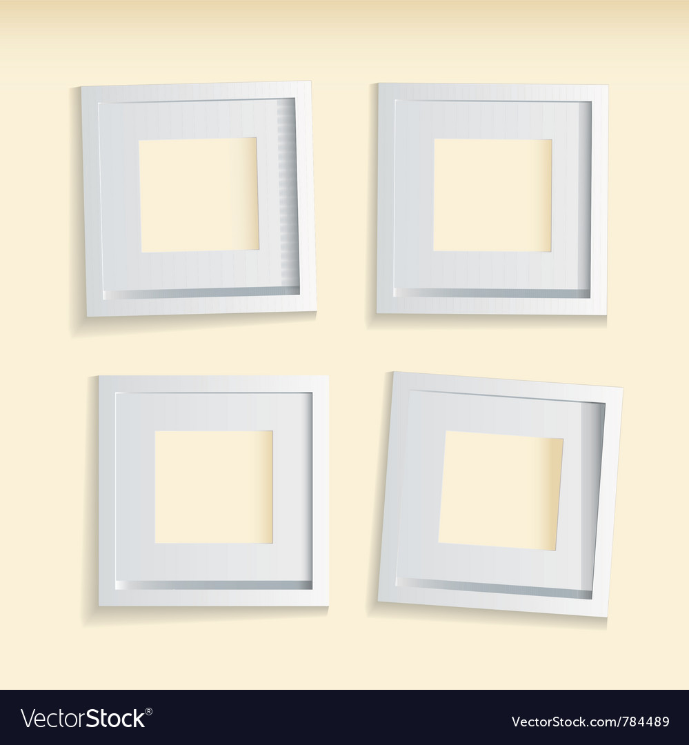 Four modern clean picture frames vector | Price: 1 Credit (USD $1)