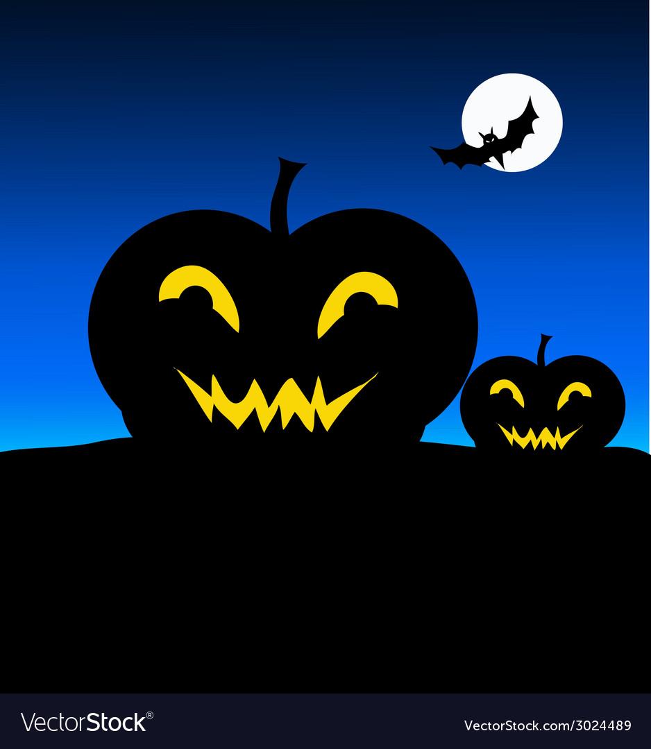 Halloween night and pumpkin- vector | Price: 1 Credit (USD $1)