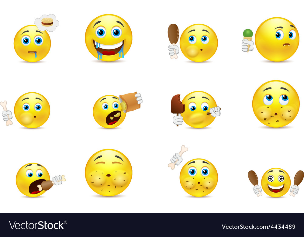 Smilies gluttons vector | Price: 1 Credit (USD $1)