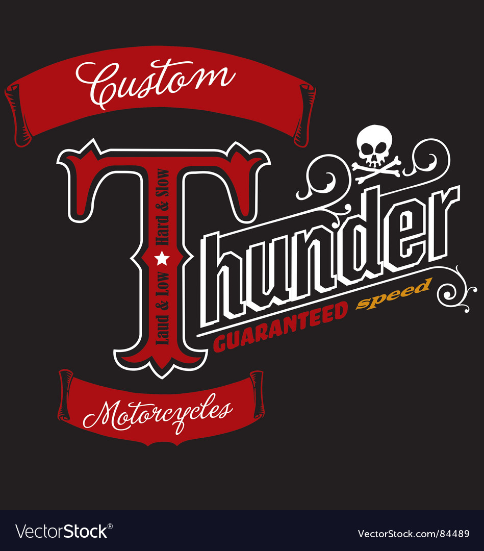 Thunder typography vector | Price: 1 Credit (USD $1)