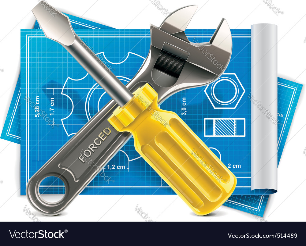 Wrench and screwdriver vector | Price: 3 Credit (USD $3)