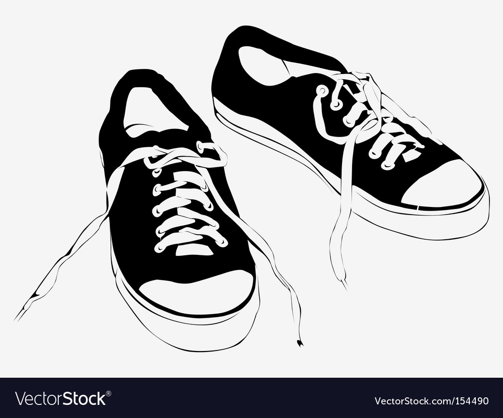 Athletic shoes vector | Price: 1 Credit (USD $1)