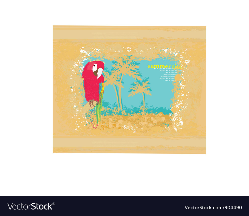Colourful parrot vector | Price: 1 Credit (USD $1)