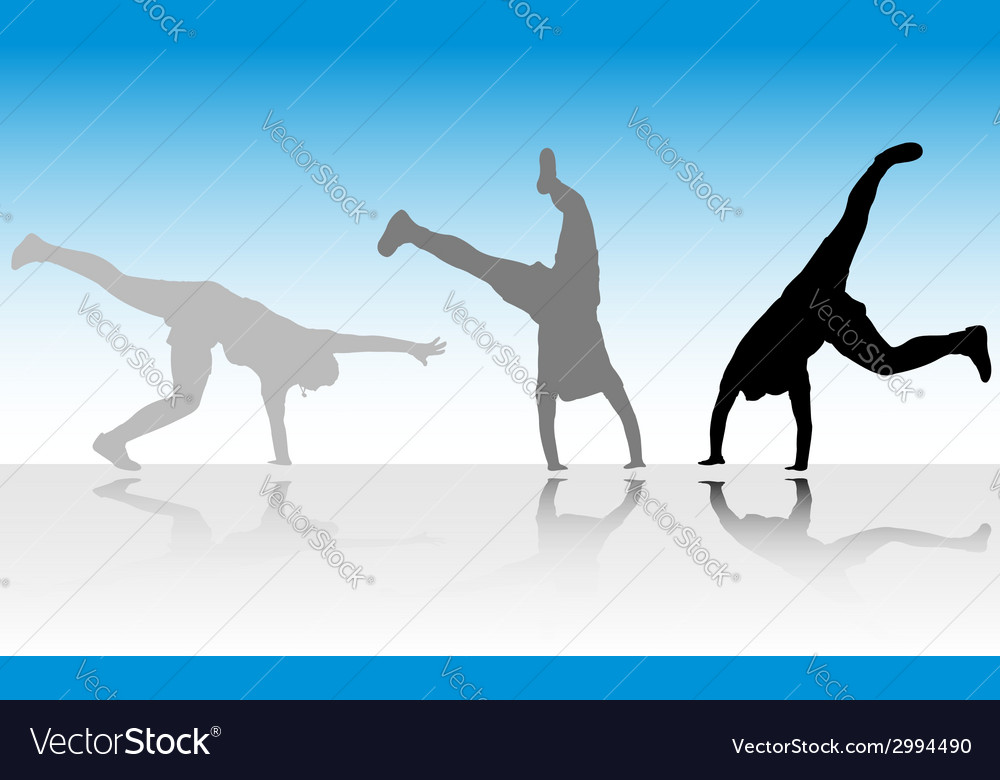 Figure jump in three steps vector | Price: 1 Credit (USD $1)